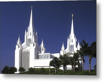 Mormon Temple Metal Print by Paul W Faust -  Impressions of Light