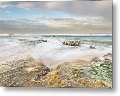 Morning At Tabletop Reef Metal Print