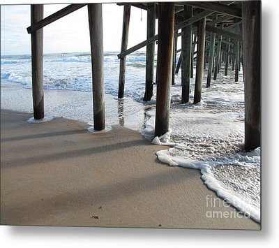 Morning At The Pier Metal Print by Michele Napier-Berg