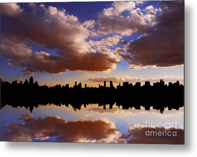 Morning At The Reservoir New York City Usa Metal Print