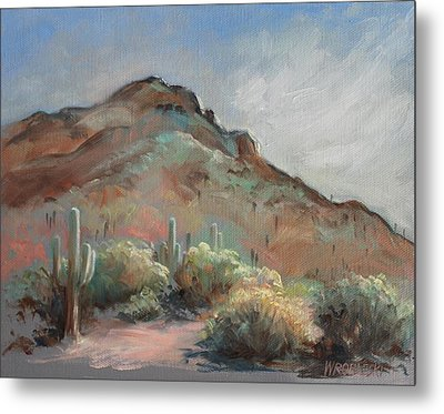 Morning At Usery Mountain Park Metal Print