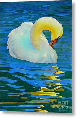 Morning Bath Metal Print