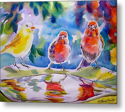 Morning Chat Metal Print by Therese Fowler-Bailey