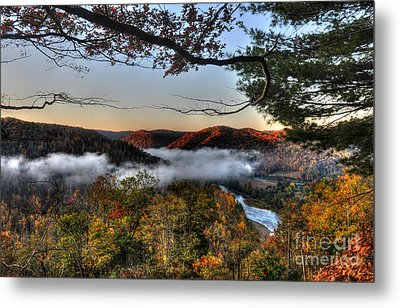 Morning Cheat River Valley Metal Print by Dan Friend