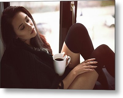 Morning Coffee Metal Print by Rod Clemen