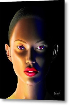 Metal Print featuring the digital art Morning Dew by Anthony Mwangi