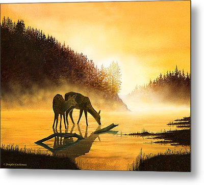 Morning Drink Metal Print