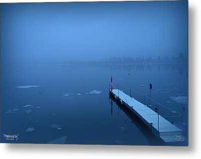 Morning Fog 002 - Skaha Lake 03-06-2014 Metal Print