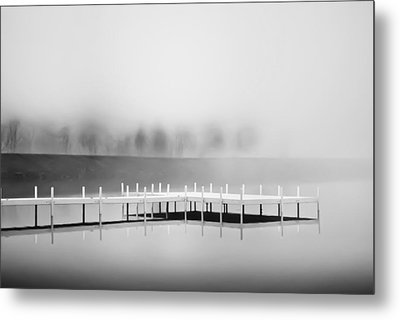 Metal Print featuring the photograph Morning Fog Burn-off by Greg Jackson