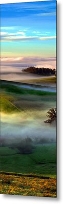 Morning Fog Over Two Rock Valley Diptych Metal Print by Wernher Krutein