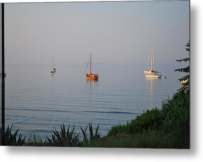 Metal Print featuring the photograph Morning by George Katechis