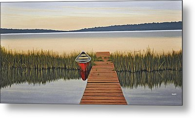 Metal Print featuring the painting Morning Has Broken by Kenneth M  Kirsch