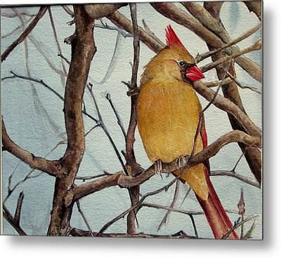 Metal Print featuring the painting Morning Herald by Margit Sampogna