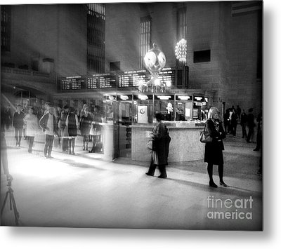 Morning In Grand Central Metal Print by Miriam Danar