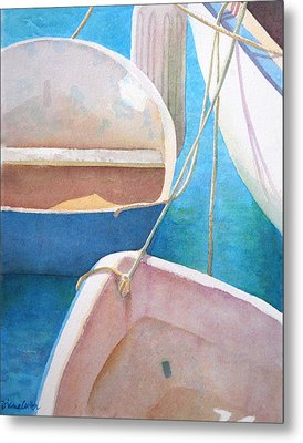 Morning In The Marina Metal Print by Diane Cutter