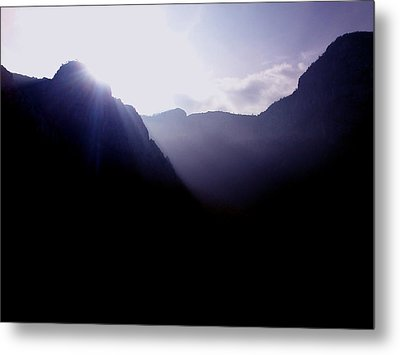 Morning In The Mountains Metal Print by Lucy D