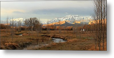 Morning In The Wasatch Back. Metal Print
