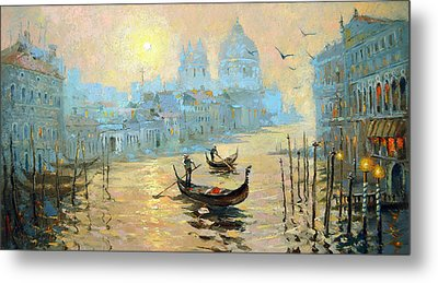 Morning In Venice Metal Print