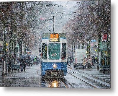 Morning In Zurich Metal Print