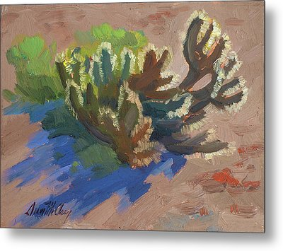 Morning Light Cholla Metal Print by Diane McClary