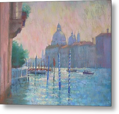 Morning Light From The Academia Bridge Metal Print by Jackie Simmonds