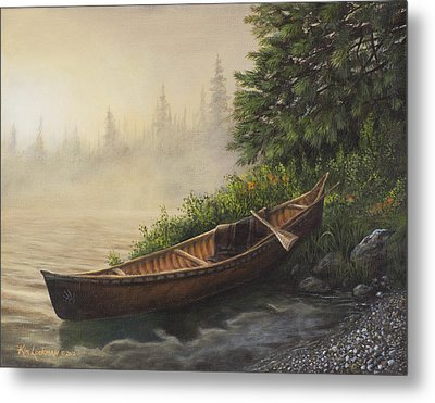 Morning Mist Metal Print