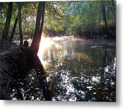 Morning Mist On The River  Metal Print by Rick Todaro