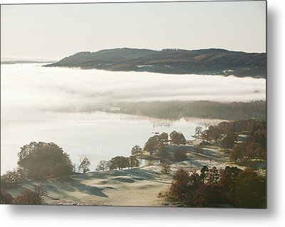 Morning Mist Over Lake Windermere Metal Print by Ashley Cooper