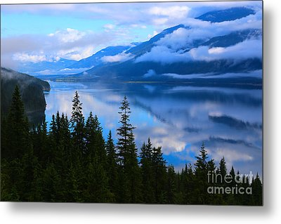 Morning Mist Rising Metal Print