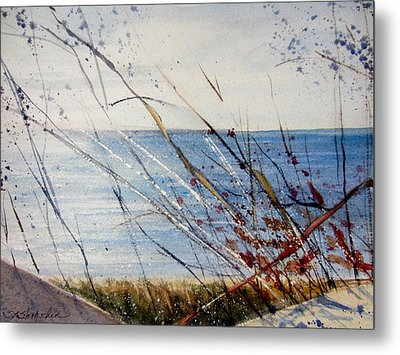 Morning On Lake Michigan Metal Print