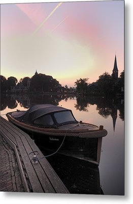 Morning On The Amstel Metal Print by Cristel Mol-Dellepoort