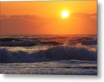 Morning On The Beach Metal Print by Bruce Bley