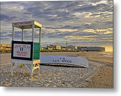 Morning On The Beach Metal Print