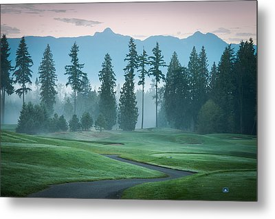 Morning On The Golf Course Metal Print