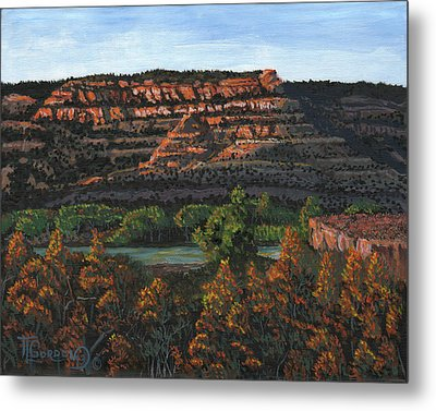 Morning Over The Bluffs Metal Print by Timithy L Gordon