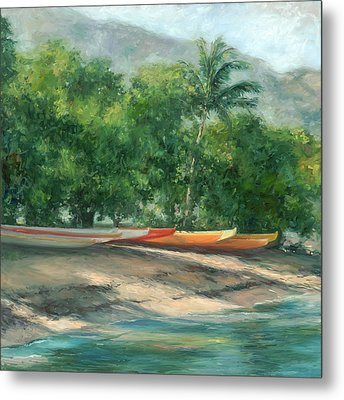 Morning Paddle Metal Print by Stacy Vosberg