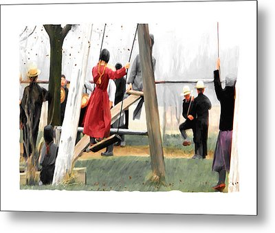 Metal Print featuring the painting Morning Recess by Bob Salo