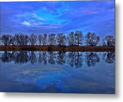 Blue Morning Reflection Metal Print by Lynn Hopwood