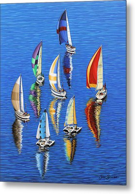 Morning Reflections Metal Print by Jane Girardot