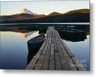 Morning Reflections With Mount Ranier Metal Print by Jane Axman