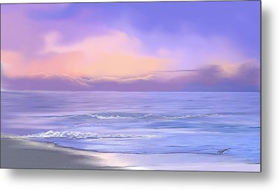 Metal Print featuring the digital art Morning Sea Breeze by Anthony Fishburne