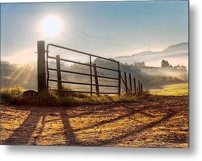 Morning Shadows Metal Print by Debra and Dave Vanderlaan