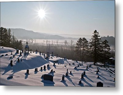 Morning Shadows In The Graveyard Metal Print