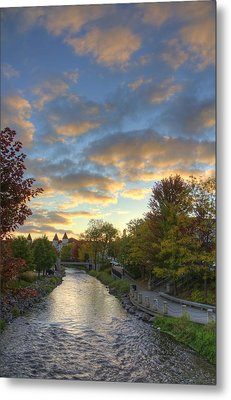 Morning Sky On The Fox River Metal Print