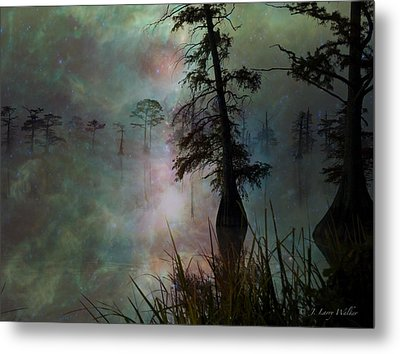 Metal Print featuring the digital art Morning Solitude by J Larry Walker