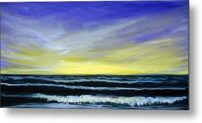 Morning Star And The Sea Oceanscape Metal Print