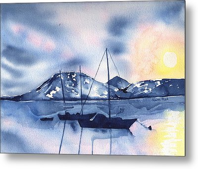 Morning Summer Soltice Metal Print by Sharon Mick