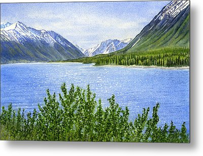 Morning Sun On Kenai Lake Metal Print
