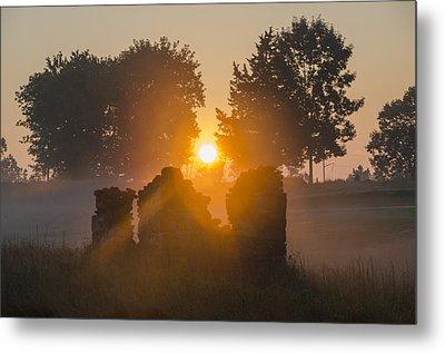 Morning Sunrise At Philadelphia Cricket Club Metal Print by Bill Cannon