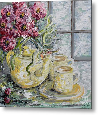 Morning Tea For Two Metal Print by Eloise Schneider